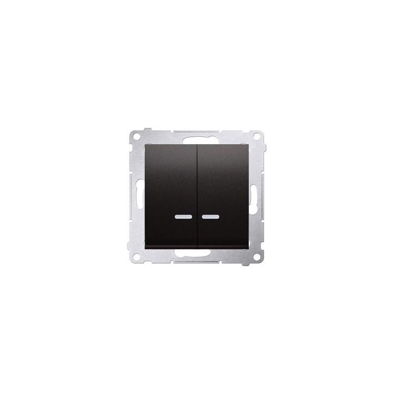 Włącznik świecznikowy z podświetleniem LED do wersji IP44 antracyt DW5BL.01/48 Simon 54Kontakt-Simon