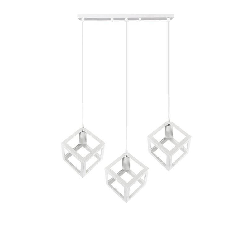 Lampy-sufitowe - geometryczna lampa białe sześciany 3x20w e27 il mio sweden 3 polux firmy POLUX