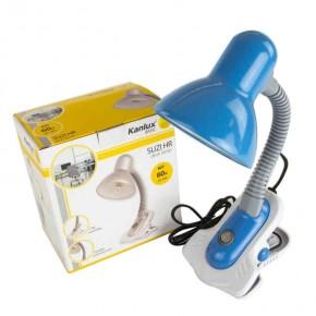 Lampki-biurkowe - niebieska lampka na biurko suzi hr-60-bl kanlux basic