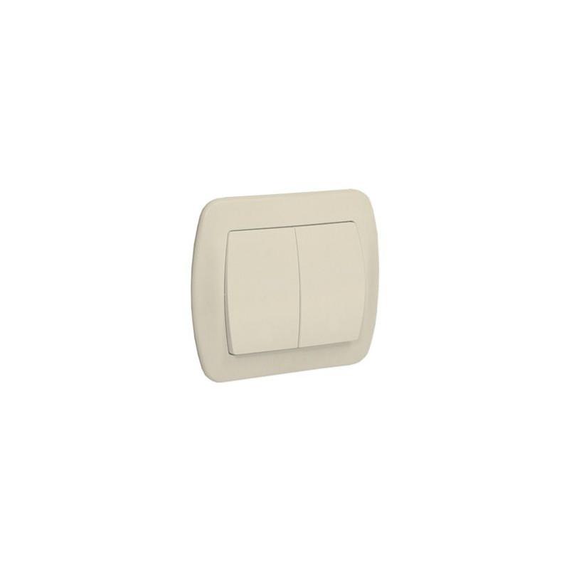 Wylaczniki-podwojne - beżowy włącznik świecznikowy z podświetleniem aw5l/12 simon akord kontakt-simon firmy Kontakt-Simon