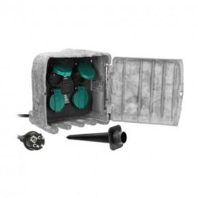Gniazda-elektryczne - gniazdo ogrodowe imitujące kamień 4x2p+z max. 3680w or-ae-13185 orno