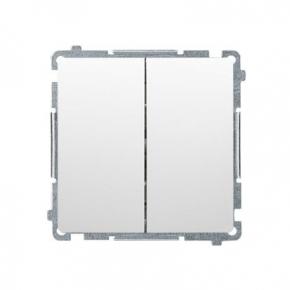 Biały włącznik schodowy podwójny (moduł) zaciski śrubowe BMW6/2.01/11 Simon Basic Kontakt-Simon