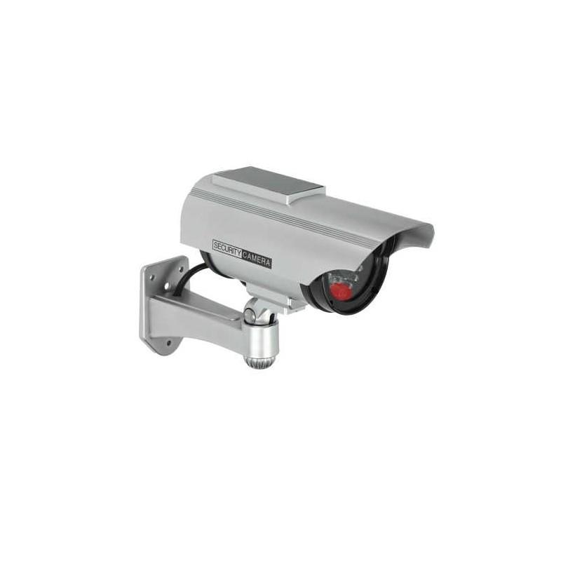 Wideodomofony - atrapa kamery monitorującej cctv z panelem solarnym srebrna 2xaa or-ak-1207/g orno firmy ORNO
