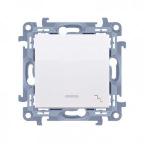 Biały włącznik schodowy z podświetleniem LED CW6L.01/11 Simon 10 Kontakt-Simon