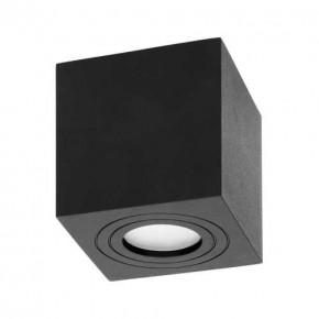Oprawy-sufitowe - kwadratowa oprawa sufitowa natynkowa czarna ip54 gu10 50w megy dls or-od-6143bgu10 orno