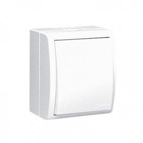 Biały włącznik jednobiegunowy natynkowy z podświetleniem IP54 AQW1L/11 Simon Aquarius Kontakt-Simon