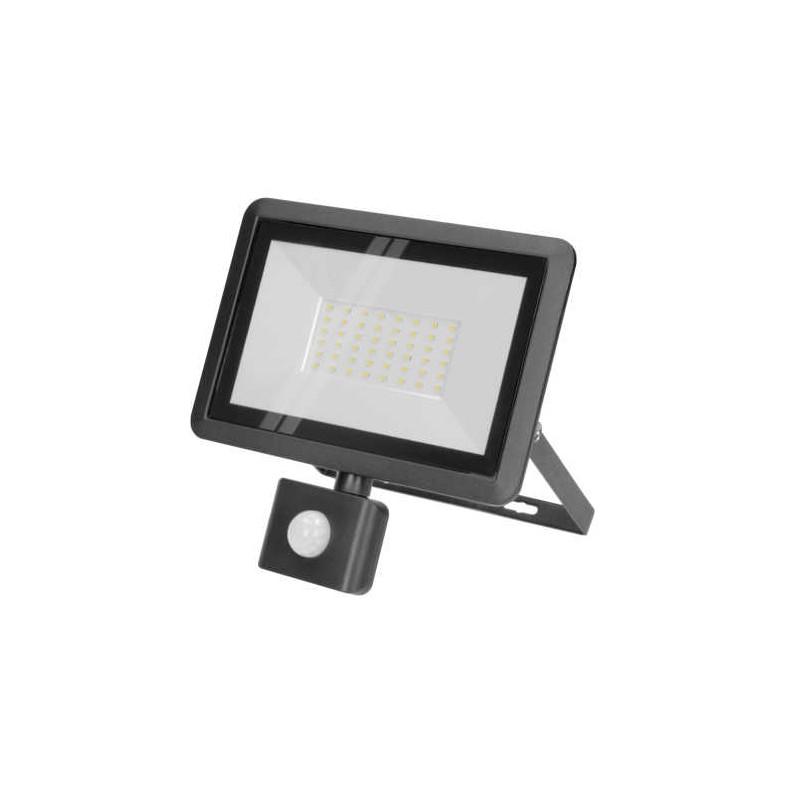 Naswietlacze-led-50w - czarny naświetlacz led z czujnikiem ruchu 50w 4000k ip44 bulled s or-nl-6138blr4 orno firmy ORNO