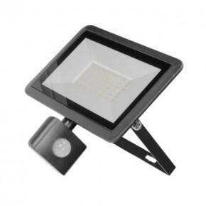 Naswietlacze-led-50w - czarny naświetlacz led z czujnikiem ruchu 50w 4000k ip44 bulled s or-nl-6138blr4 orno