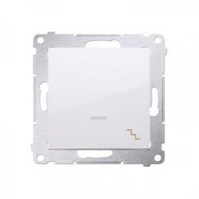 Biały włącznik schodowy z podświetleniem LED DW6L.01/11 Simon 54 Kontakt-Simon