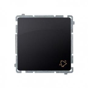 Przycisk dzwonek (moduł) szybkozłączka grafit mat BMD1.01/28 Simon Basic Kontakt-Simon