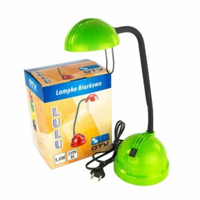 Lampki-biurkowe - zielona lampka led na biurko 3,6w lb-lululed-41 gtv