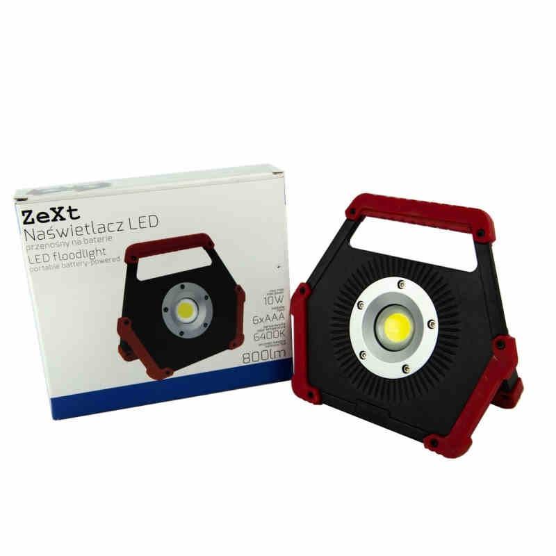 Naswietlacze-led-przenosne - przenośny naświetlacz led na baterie c06-mhb-10w-64-cr zext firmy Zext