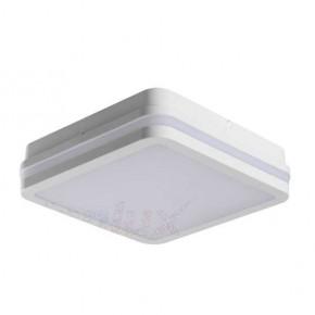 Plafony - kwadratowa plafoniera led biała z czujnikiem ruchu 18w neutralna 4000k ip54 beno 32946 kanlux