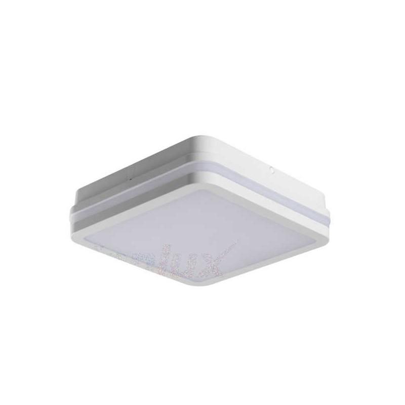 Plafony - kwadratowa plafoniera led biała z czujnikiem ruchu 18w neutralna 4000k ip54 beno 32946 kanlux firmy KANLUX