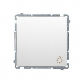 Biały przycisk zwierny światło (moduł) szybkozłączka BMS1.01/11 Simon Basic Kontakt-Simon