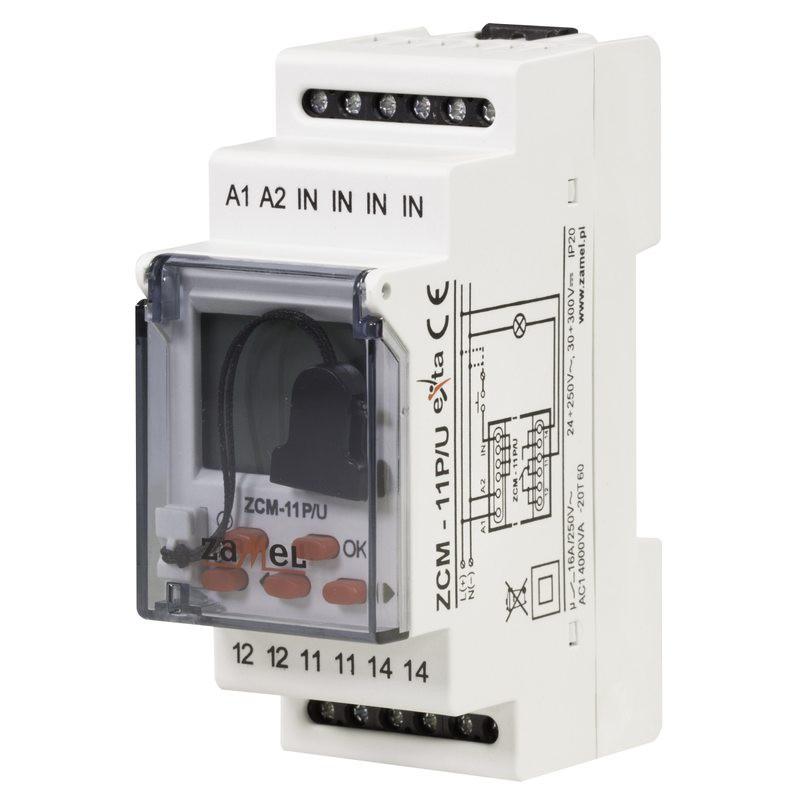 Sterowanie-czasowe - programator czasowy tygodniowy z funkcją pamięci zewnetrznej zcm-11p/u zamel firmy ZAMEL