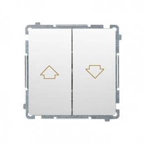 Biały przycisk żaluzjowy (moduł) zaciski śrubowe BMZ1.01/11 Simon Basic Kontakt-Simon