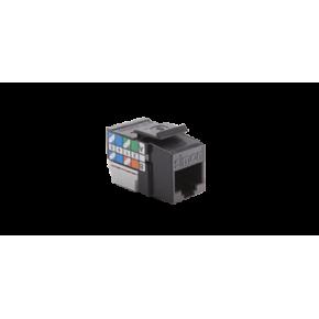 Gniazda-komputerowe - wkład gniazda komputerowego rj45 kat. 6 nieekranowane czarne cj645u kontakt simon