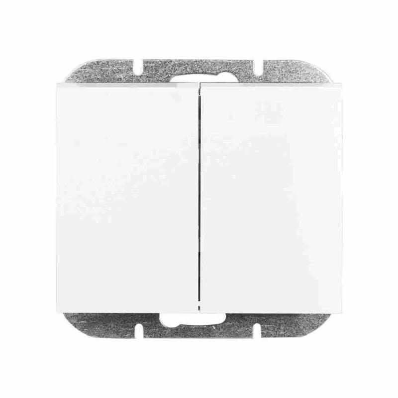Wylaczniki-podwojne - biały włącznik podwójny wp-2o onyx 9002194 abex firmy ABEX
