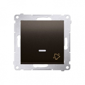 Przycisk dzwonek z podświetleniem LED 10AX brązowy mat DD1L.01/46 Simon 54 Kontakt-Simon