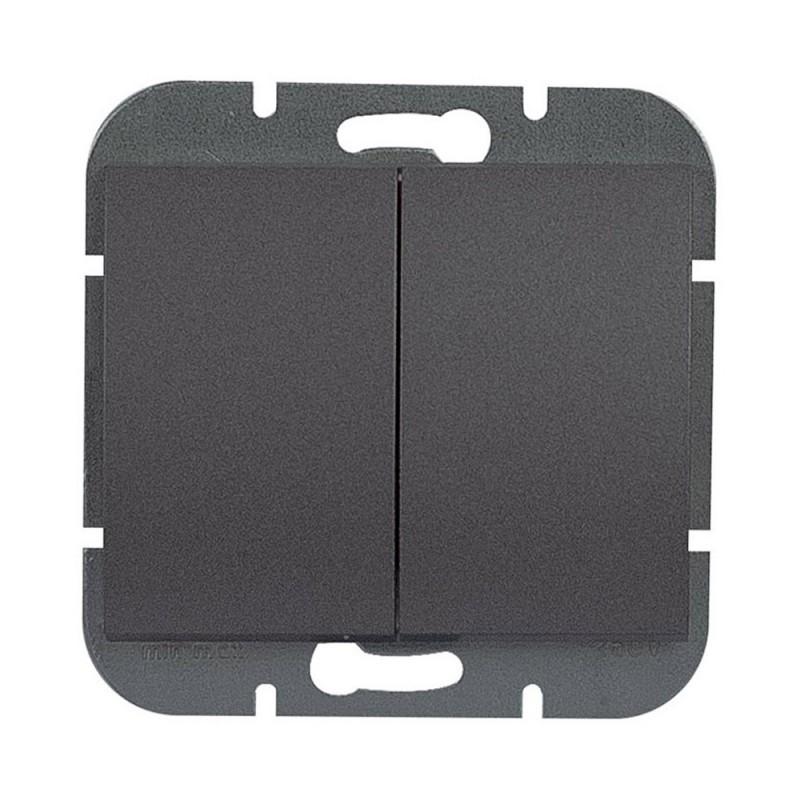 Wylaczniki-podwojne - czarny włącznik podwójny wp-2o onyx 9002198 abex firmy ABEX