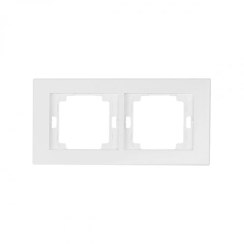 Ramki-podwojne - ramka podwójna biała pozioma onyx ra-2o abex firmy ABEX