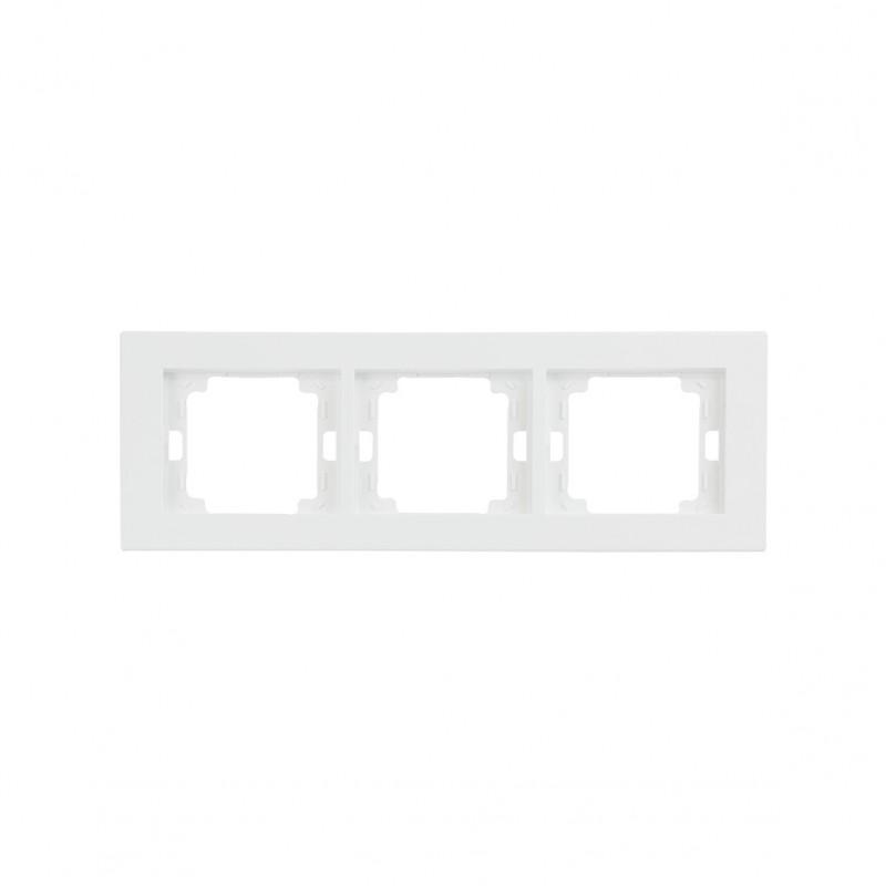 Ramki-potrojne - ramka potrójna biała pozioma onyx ra-3o abex firmy ABEX