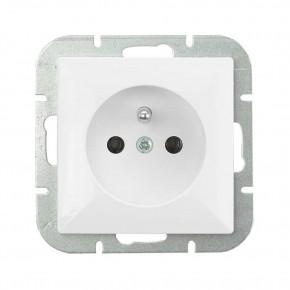 Gniazda-elektryczne - gniazdo białe z uziemieniem pt-16p perła abex