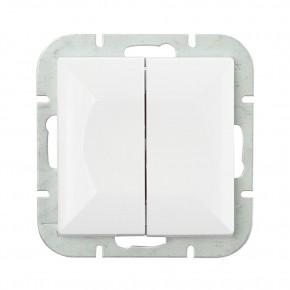 Wylaczniki-podwojne - łącznik świecznikowy biały wp-2p perła abex