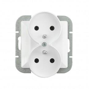 Gniazda-elektryczne - gniazdo podwójne podtynkowe białe pt-6pr perła abex
