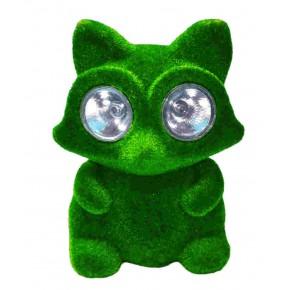 Ozdobne-oswietlenie-do-ogrodu - zielona lampa solarna lisek do ogrodu polux