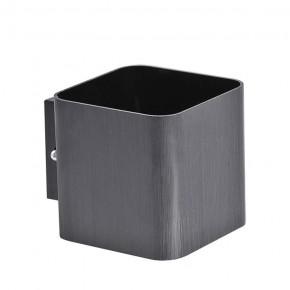 Kinkiety - kinkiet oświetleniowy kwadrat czarny szczotkowany g9 izar polux