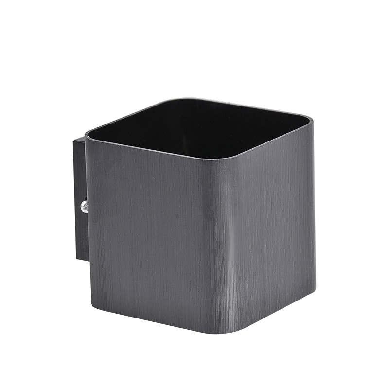Kinkiety - kinkiet oświetleniowy kwadrat czarny szczotkowany g9 izar polux firmy POLUX