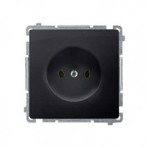 Gniazdo wtyczkowe bez uziemienia grafit mat BMG1.01/28 Simon Basic Kontakt-Simon