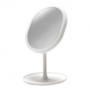 Lampki-biurkowe - podświetlane lusterko do makijażu led białe 3w neutralne światło 4500k 150lm princessa led 03822 ideus