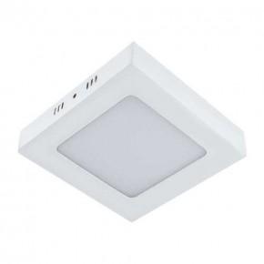Plafony - plafon sufitowy kwadratowy biały o mocy 6w neutralne światło 4000k 540lm martin led d 02908 ideus