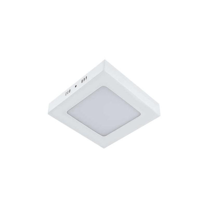Plafony - plafon sufitowy kwadratowy biały o mocy 6w neutralne światło 4000k 540lm martin led d 02908 ideus firmy IDEUS