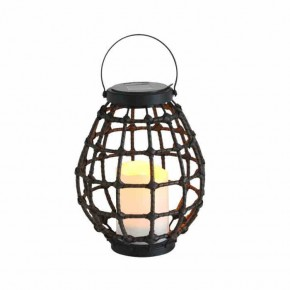 Latarenki-ogrodowe - metalowa latarenka solarna ze świecą led do ogrodu koge polux