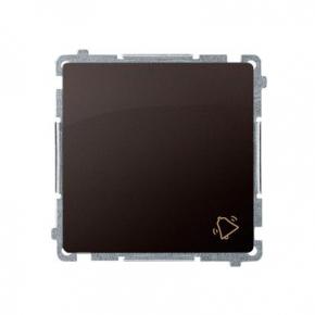Przycisk dzwonek (moduł) szybkozłączka czekoladowy mat BMD1.01/47 Simon Basic Kontakt-Simon