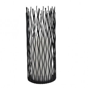 Latarenki-ogrodowe - dekoracyjna latarenka ogrodowa czarna ciepłe światło 2200k ip44 35cm nyborg xl 313294 polux