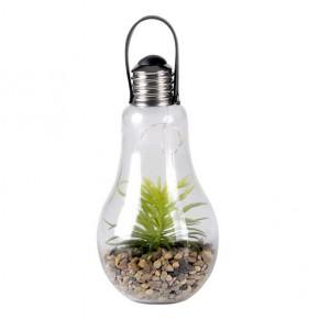 Lampy-ogrodowe-wiszace - dekoracyjna lampa wisząca ogrodowa żarówka ogród w szkle na baterie ciepłe światło 3000k 313270 polux