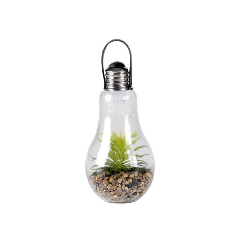 Lampy-ogrodowe-wiszace - dekoracyjna lampa wisząca ogrodowa żarówka ogród w szkle na baterie ciepłe światło 3000k 313270 polux firmy POLUX