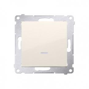 Kremowy włącznik jednobiegunowy z podświetleniem LED 10AX DW1L.01/41 Simon 54 Kontakt-Simon