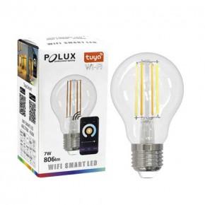 Gwint-trzonek-e27 - żarówka led z dekoracyjnymi filamentami sterowana smartfonem przez wi-fi e27 7w 806lm wi-fi smart led 313836 polux