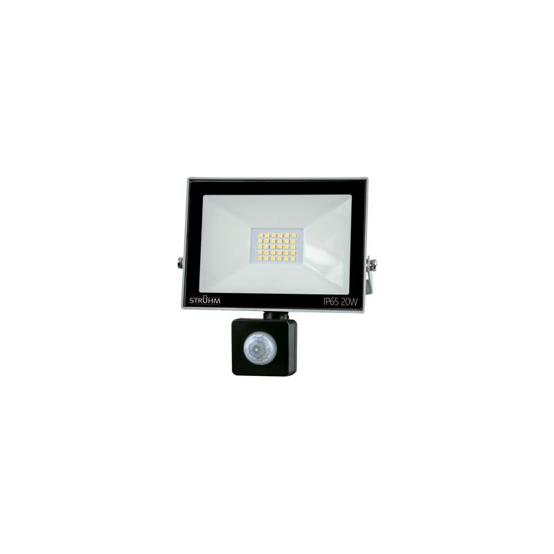 Naswietlacze-z-czujnikiem-ruchu - naświetlacz led 20w z czujnikiem ruchu ip65 zimne światło kroma 03705 firmy IDEUS