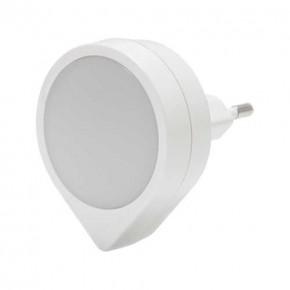 Lampki-do-kontaktu - lampka wtykowa led do kontaktu biała z delikatnym neutralnym światłem 4000k 0,4w 16lm ela led 03791 ideus