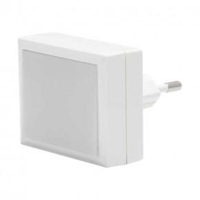 Lampki-do-kontaktu - wtykowa lampka led do kontaktu kwadratowa w kolorze białym 0,4w 4000k 16lm olo led 03792 ideus