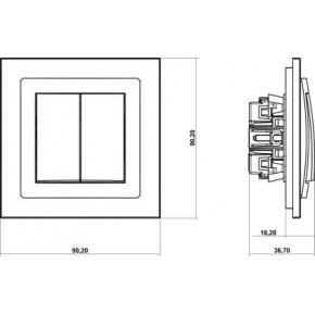 Wylaczniki-zaluzjowe - żaluzjowy włącznik czarny mat 12dwp-8 deco karlik