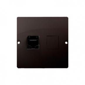 Gniazdo sieciowe RJ45 kat.5e (moduł) czekoladowy mat BMF51.02/47 Simon Basic Kontakt-Simon