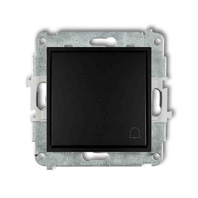 Wlaczniki-i-przyciski-dzwonkowe - czarny przycisk dzwonkowy zwierny z piktogramem 12mwp-4 deco mini karlik firmy Karlik